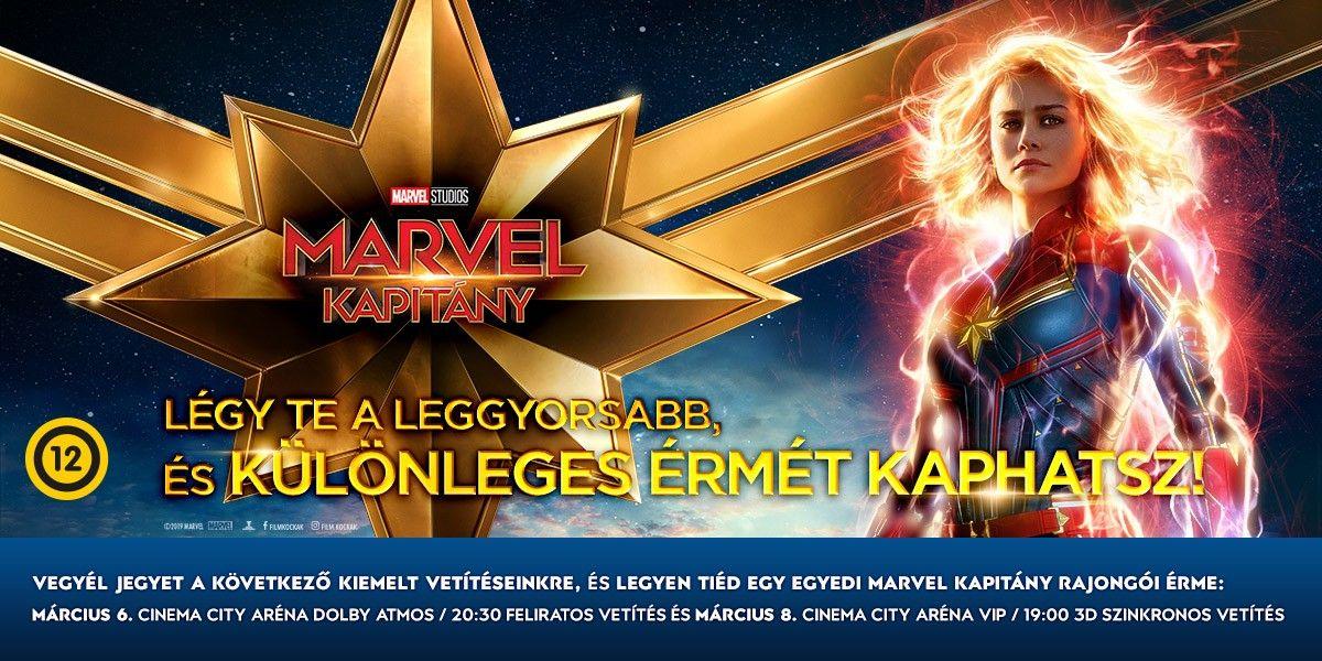 📷 Marvel Kapitány rajongói érmét kaphatsz!
